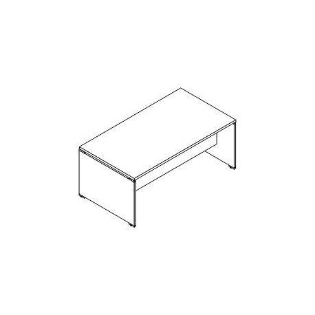 Scrivania rettangolare P. 100 gamba legno