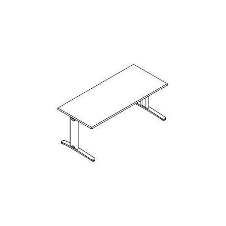 Scrivania rettangolare P. 80 gamba metallo fissa