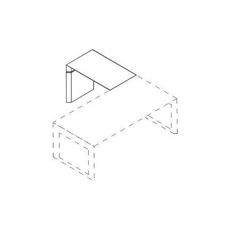 Allungo con piano e struttura in legno