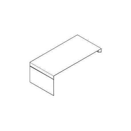 Scrivania da appoggio con piano e struttura in legno