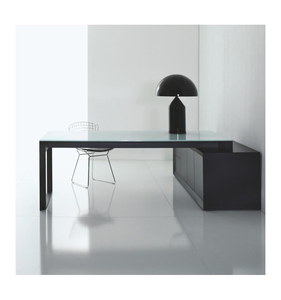 Scrivania Moderna Legno Cassetti Toki : Scrivania vetro e legno trendy tavolino in con