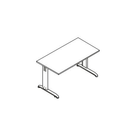 Scrivania rettangolare P. 80 gamba in metallo