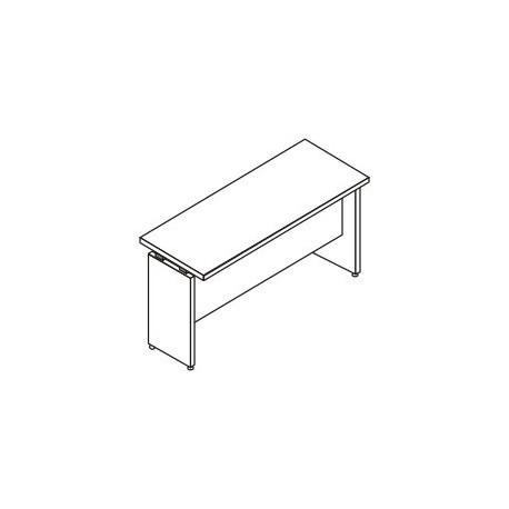 Scrivania rettangolare P. 60 gamba in legno