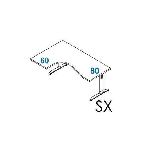 Scrivania angolare Dx - Sx gamba in metallo